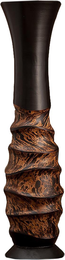 """Ваза """"Линии"""", 3257005, коричневый, 13 х 13 х 50 см"""