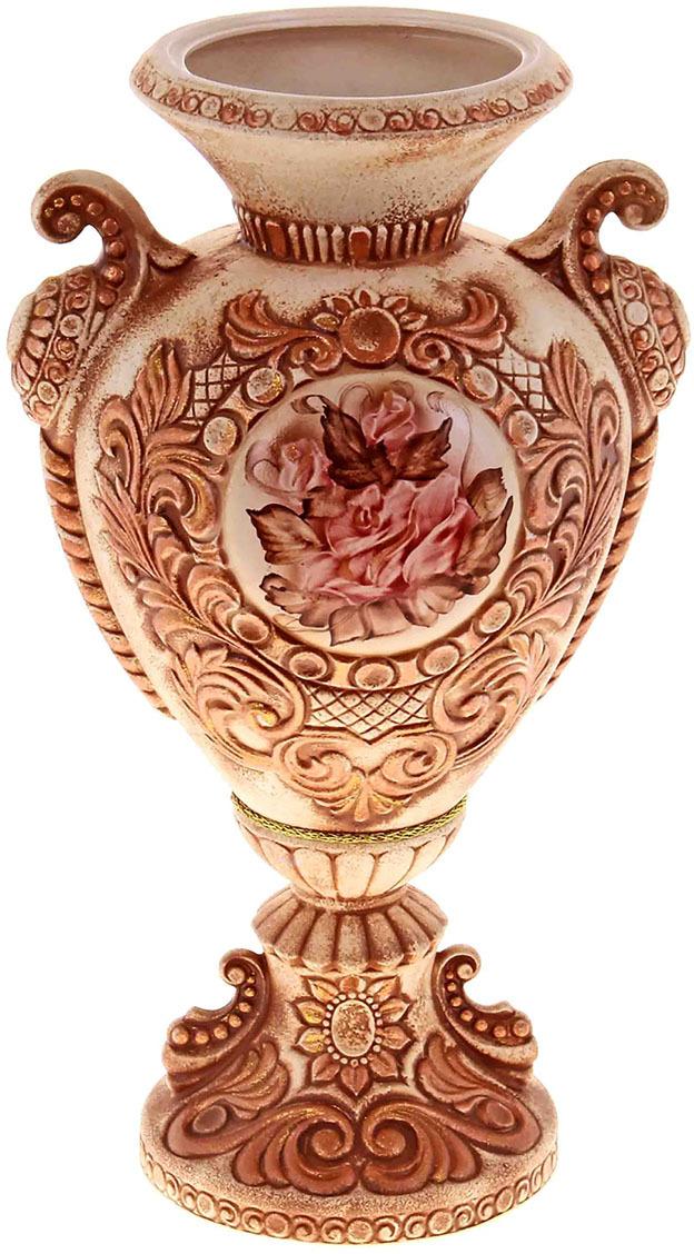 """Ваза Керамика ручной работы """"Любава"""", 195899, коричневый, 22 х 25 х 60 см"""