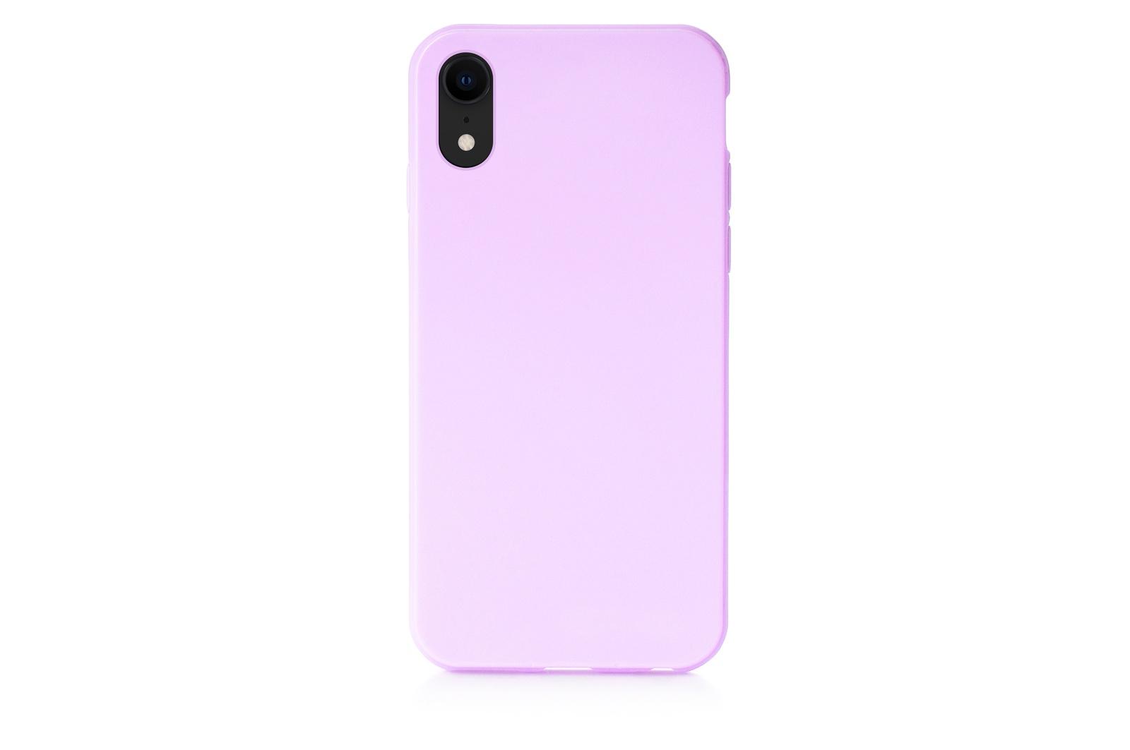 """Чехол для сотового телефона iNeez накладка силиконовый мыльница 907287 для Apple iPhone XR 6.1"""", сиреневый"""