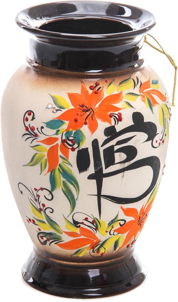 Ваза Керамика ручной работы Натали 2, 776273, бежевый, 13 х 13 х 26 см vivanco 36762 black