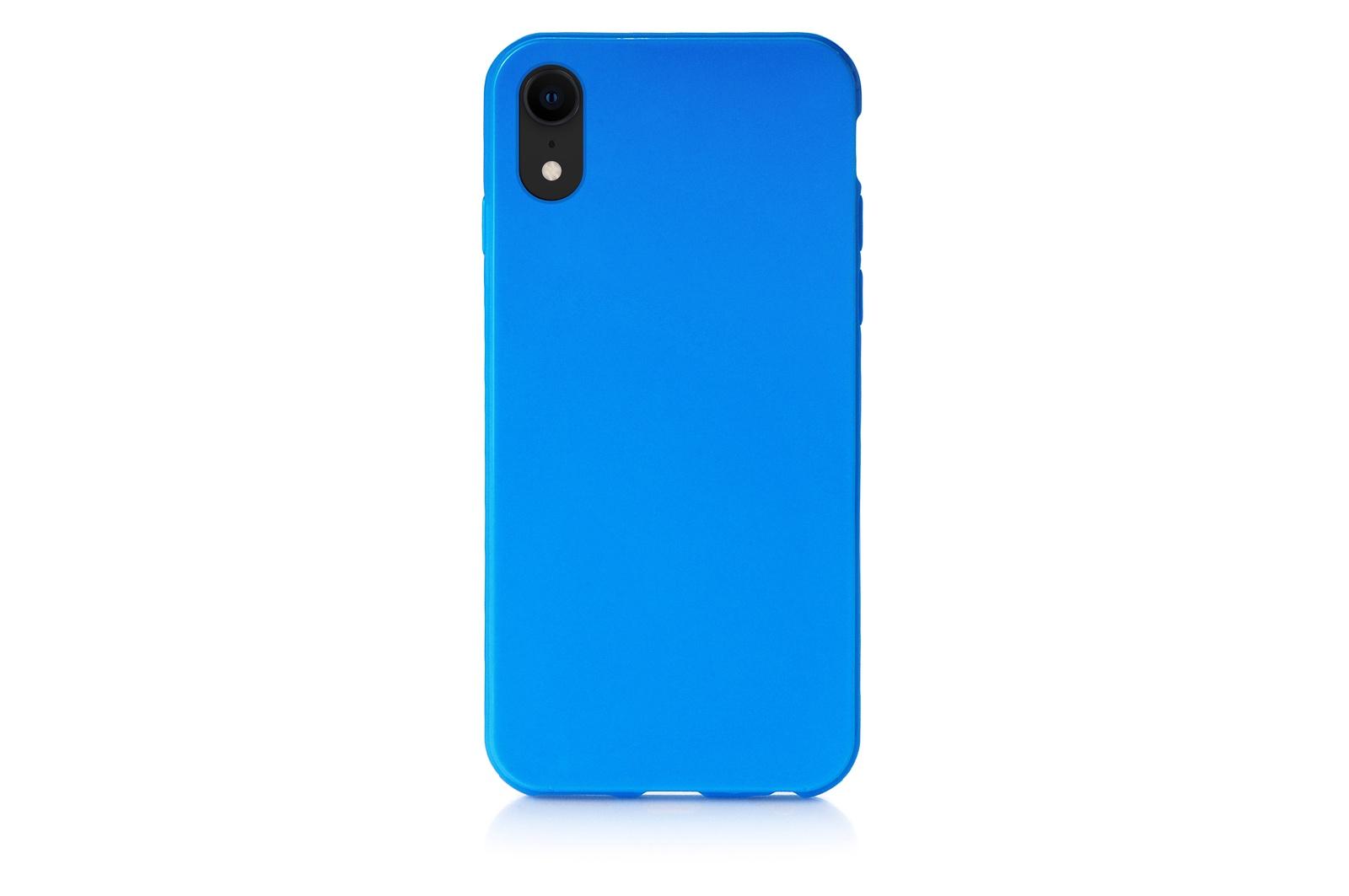 """Чехол для сотового телефона iNeez накладка силиконовый мыльница 907293 для Apple iPhone XR 6.1"""", синий"""