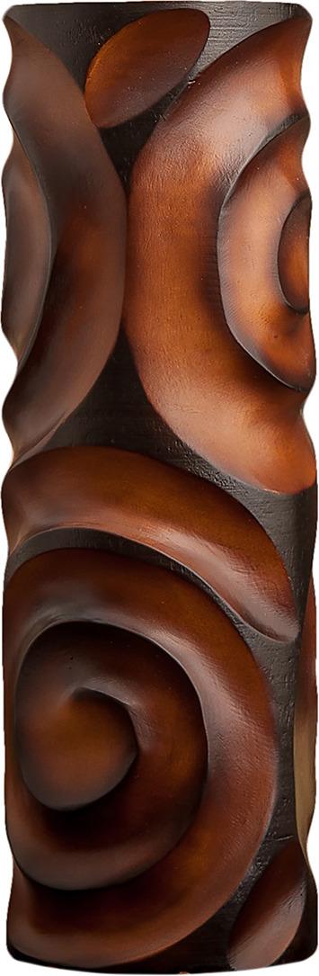 "Ваза ""Завитки"", 1487864, коричневый, 12,5 х 12,5 х 38 см"