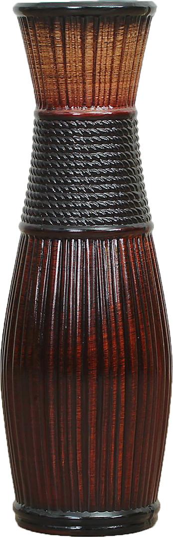 "Ваза ""Плетенка"", 2541825, коричневый"