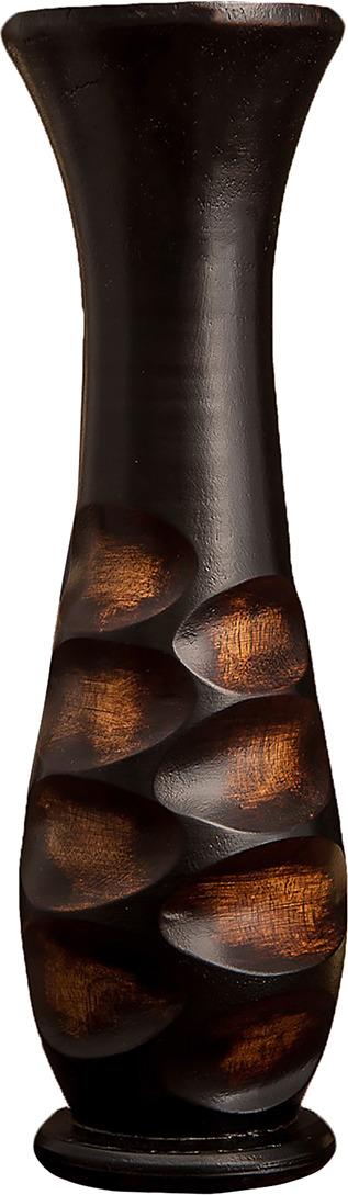 цена на Ваза Круги, 3256957, коричневый, 10 х 10 х 35 см