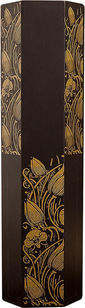 """Ваза """"Лотос"""", 1487862, коричневый, золотистый, 8,5 х 10 х 35 см"""