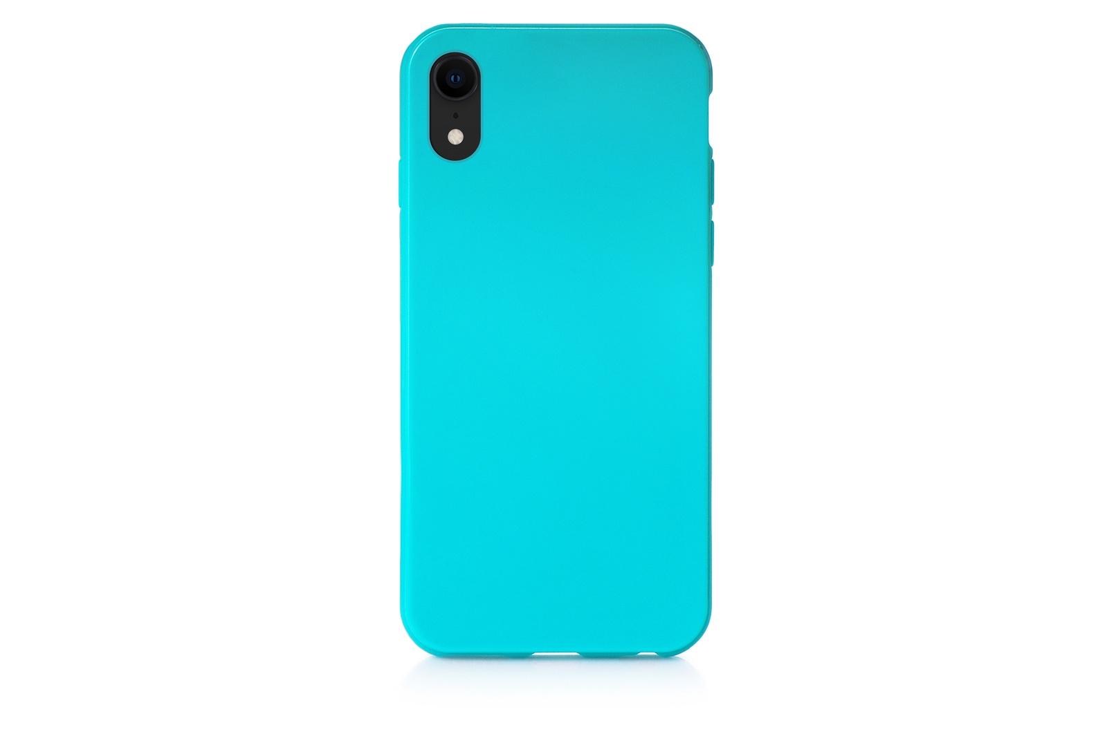 """Чехол для сотового телефона iNeez накладка силиконовый мыльница 907290 для Apple iPhone XR 6.1"""", бирюзовый"""
