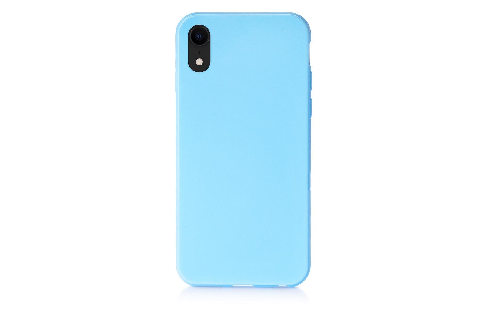 """Чехол для сотового телефона iNeez накладка силиконовый мыльница 907292 для Apple iPhone XR 6.1"""", голубой"""