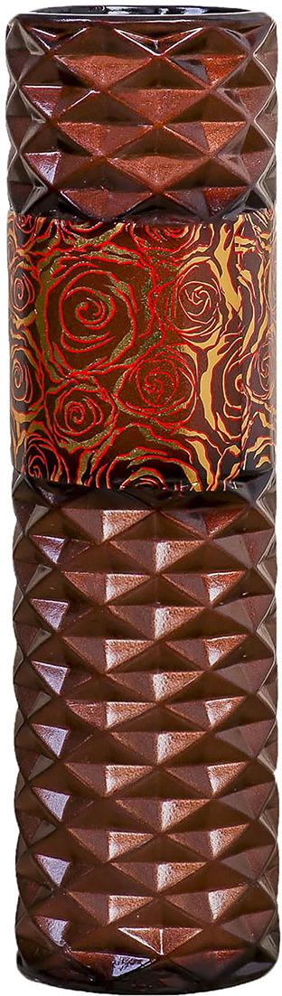 """Ваза """"Эскиз Розы"""", 3931573, коричневый, красный, 16 х 16 х 58 см"""