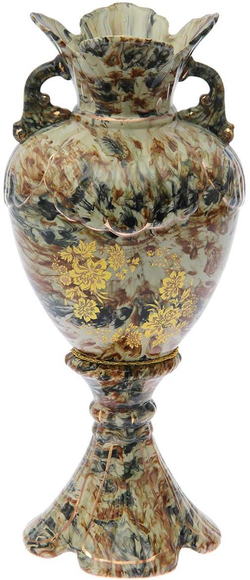 """Ваза Керамика ручной работы """"Орхидея"""", 193380, коричневый, 20 х 20 х 55 см"""