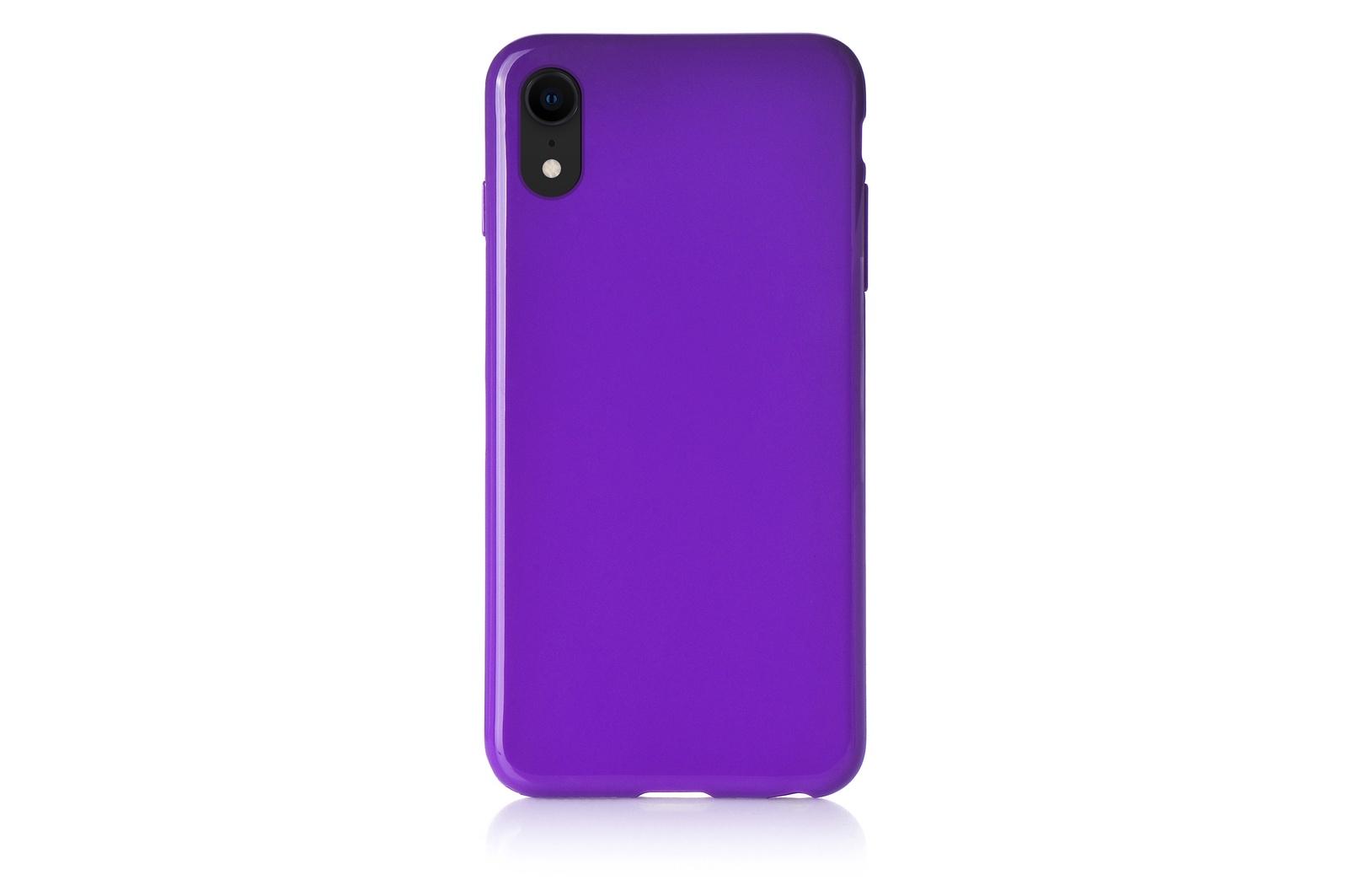 """Чехол для сотового телефона iNeez накладка силиконовый мыльница 907289 для Apple iPhone XR 6.1"""", фиолетовый"""