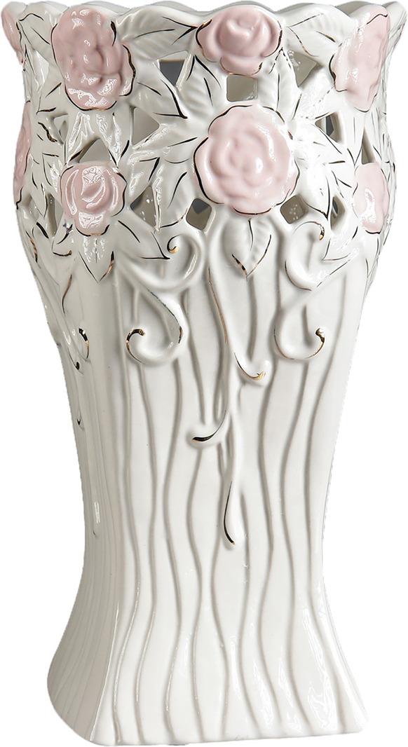 Ваза Керамика ручной работы Лиана, 3473173, белый ваза керамика ручной работы лиана цвет светло коричневый средняя 1130557