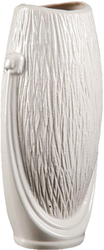 Ваза Керамика ручной работы Калипсо, 2884102, белый2884102Особые свойства керамики делают вазы из этого материала очень популярными. Цветы простоят дольше, потому что керамика отлично регулирует температуру. Вода останется прохладной даже при высокой температуре в помещении.