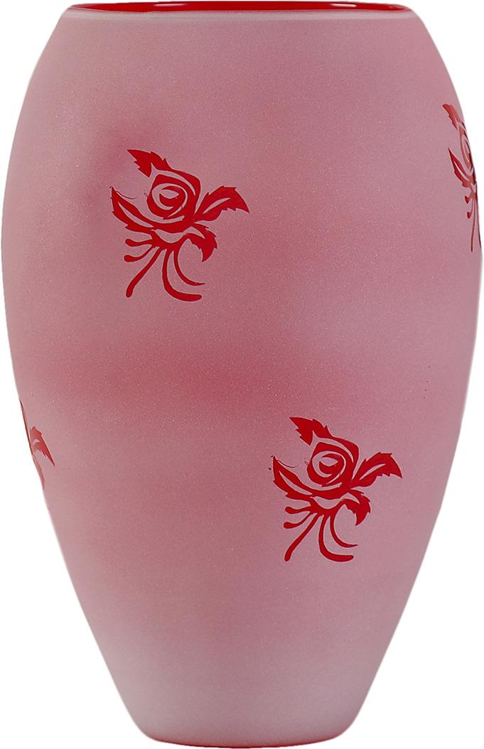 """Ваза Evis """"Клавдия"""", 4060719, розовый, 14 х 14 х 24 см"""