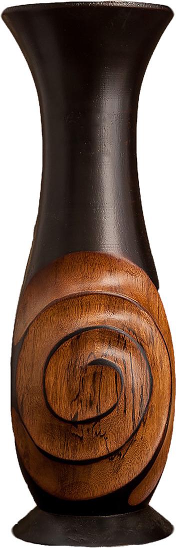 "Ваза ""Спираль"", 3256991, коричневый, бежевый, 12,5 х 12,5 х 38 см"
