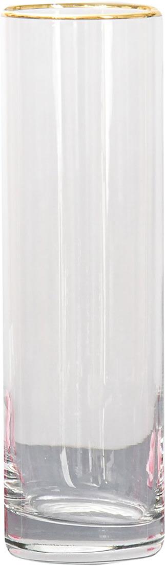 """Ваза Керамикс """"Flora"""", 3567809, прозрачный, 7,5 х 7,5 х 26,5 см"""