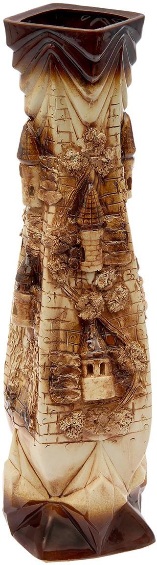 """Ваза Керамика ручной работы """"Квадро"""", 1865775, коричневый, бежевый"""