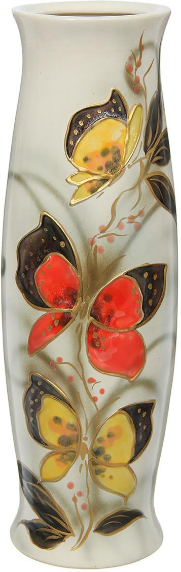 Ваза Керамика ручной работы Ромина, 1265985, серый, 14 х 14 х 40,5 см ваза керамика ручной работы натали 2 776273 бежевый 13 х 13 х 26 см