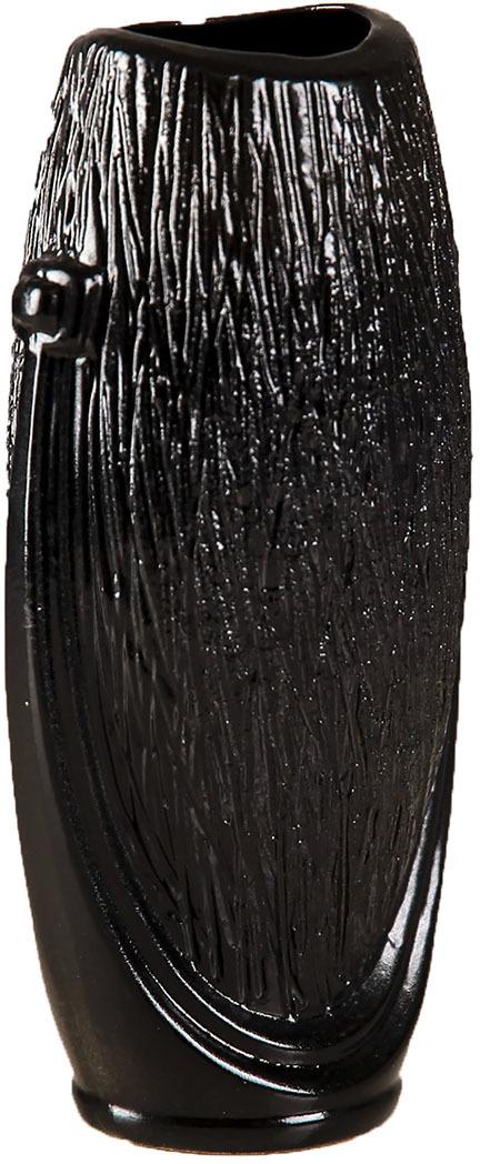 Ваза Керамика ручной работы Калипсо, 2884104, черный2884104Особые свойства керамики делают вазы из этого материала очень популярными. Цветы простоят дольше, потому что керамика отлично регулирует температуру. Вода останется прохладной даже при высокой температуре в помещении.