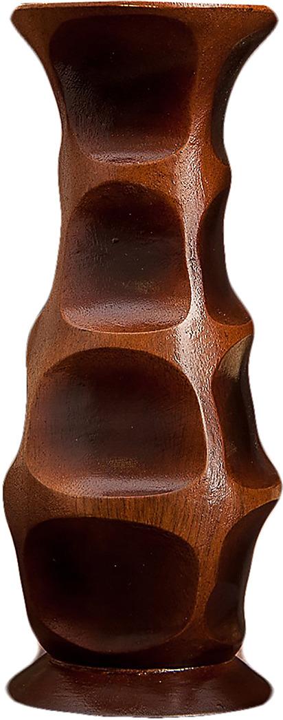 """Ваза """"Классика"""", 3256928, коричневый, 7,5 х 7,5 х 19 см"""