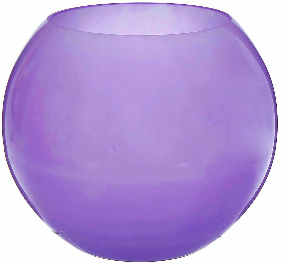 Ваза Evis Сиреневый мираж, 1993264, сиреневый, 30 х 30 х 25 см ваза шар evis сиреневый мираж цвет сиреневый 3 л