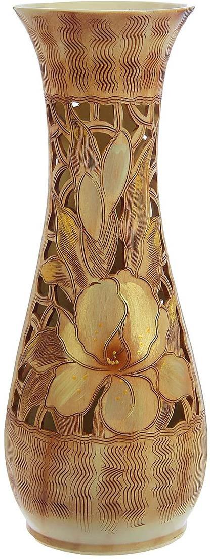 """Ваза Керамика ручной работы """"Осень"""", 1239806, коричневый, 22 х 22 х 57 см"""