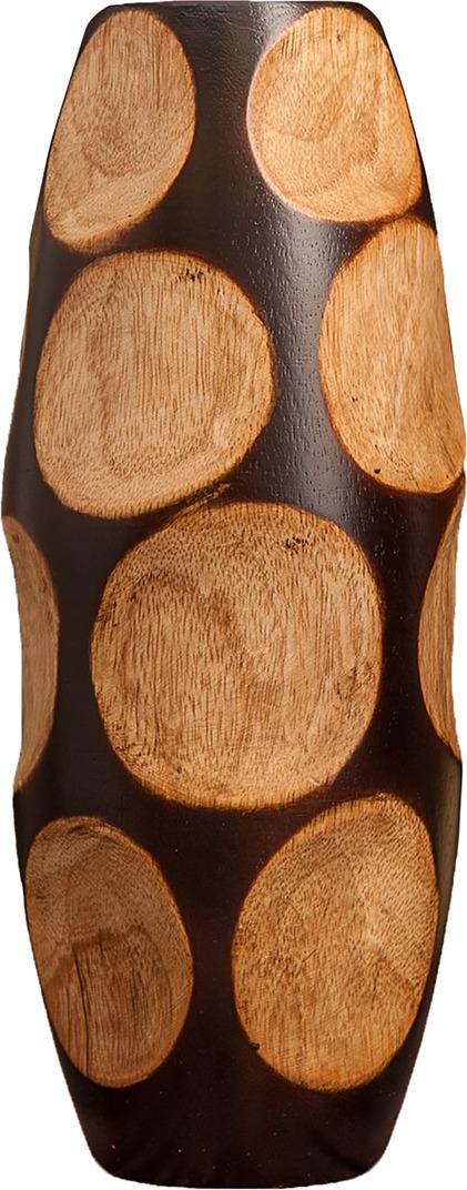 "Ваза ""Круги"", 3256952, коричневый, 10 х 10 х 25 см"
