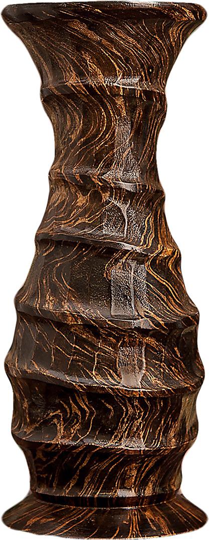 """Ваза """"Линии"""", 3256997, коричневый, 15 х 15 х 38 см"""