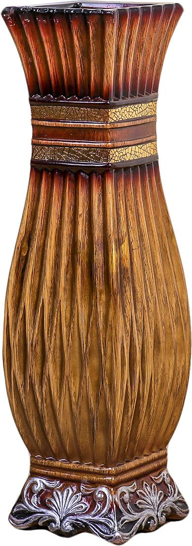 "Ваза ""Дионелла"", 3931570, коричневый, 16 х 16 х 60 см"
