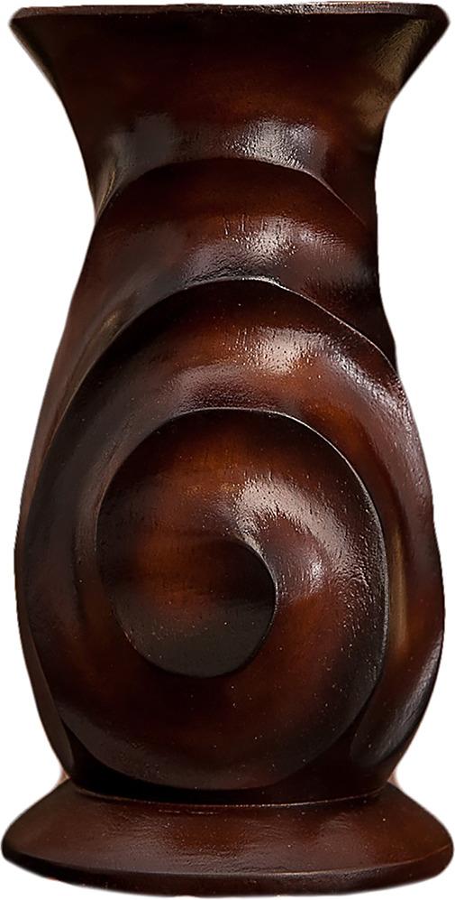 """Ваза """"Спираль"""", 3256934, коричневый, 10 х 10 х 19 см"""