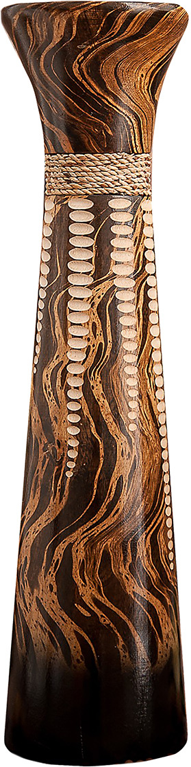 "Ваза ""Капель"", 1487868, коричневый, 13,5 х 13,5 х 50 см"