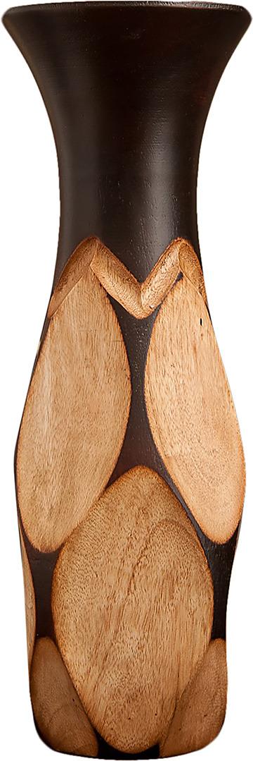 "Ваза ""Впадины"", 3256979, коричневый, 12,5 х 12,5 х 30 см"