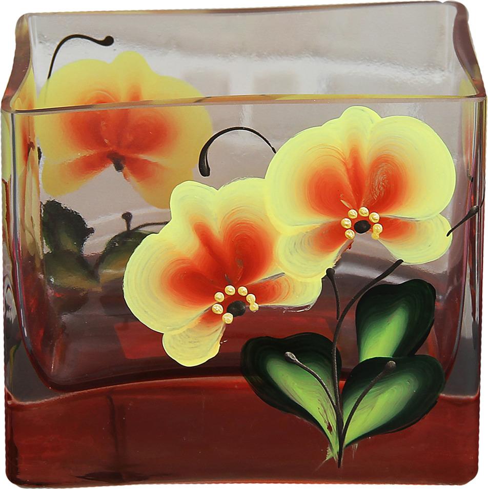 Ваза Керамикс Джем Орхидея, 2904725, оранжевый, 7,5 х 10 х 8,5 см цветочная ваза title page