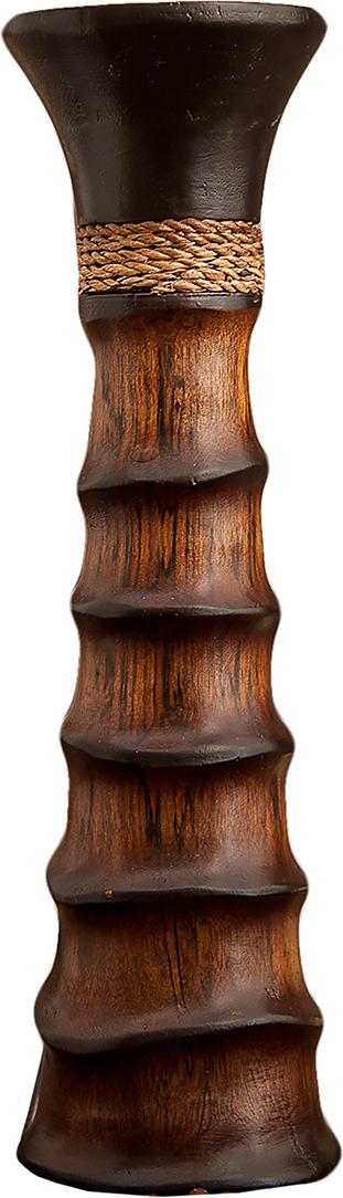"Ваза ""Любовь"", 3256963, коричневый, бежевый, 10 х 10 х 35 см"