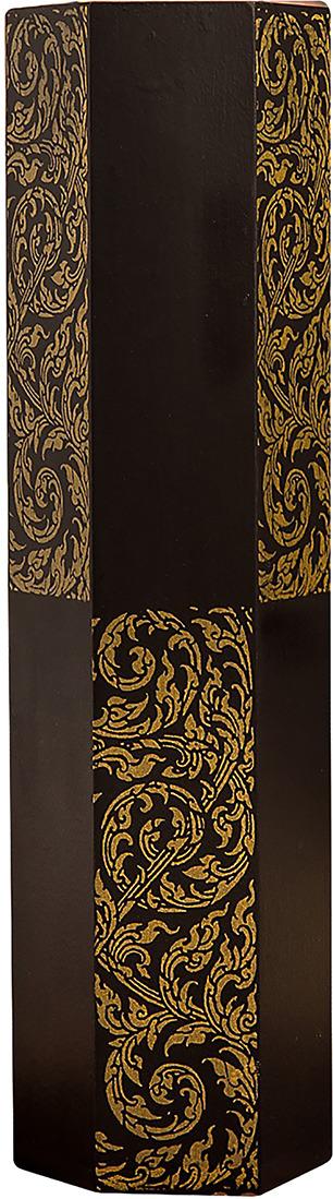 "Ваза ""Золотой узор"", 1487861, коричневый, 8,5 х 10 х 35 см"
