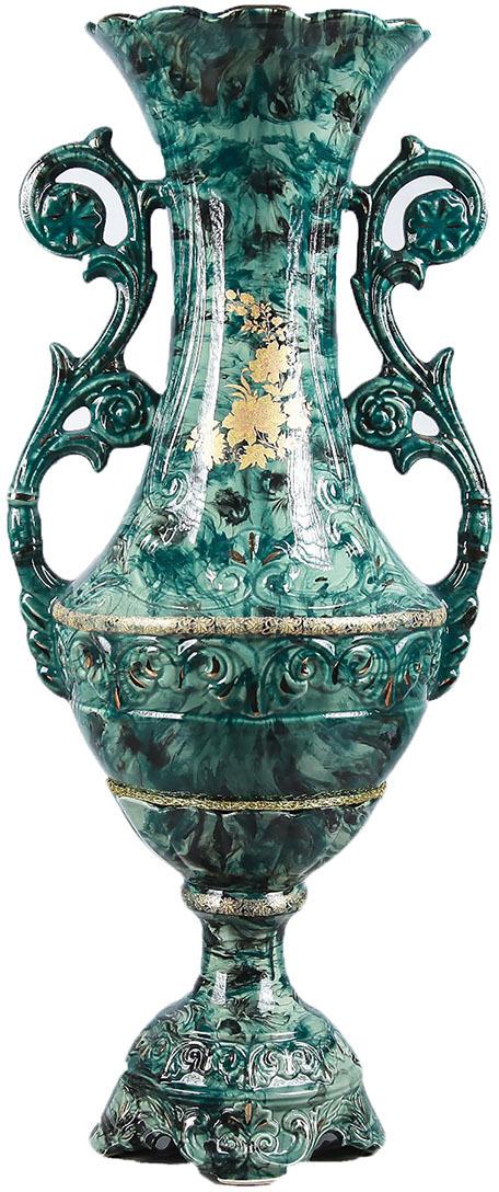 Фото - Ваза Керамика ручной работы Феона, 3424704, зеленый, 20 х 20 х 60 см ваза керамика ручной работы замок 1164731 коричневый 20 х 20 х 66 см