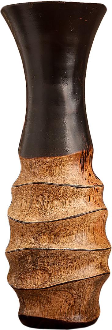 "Ваза ""Круги"", 3256986, коричневый, 12,5 х 12,5 х 30 см"