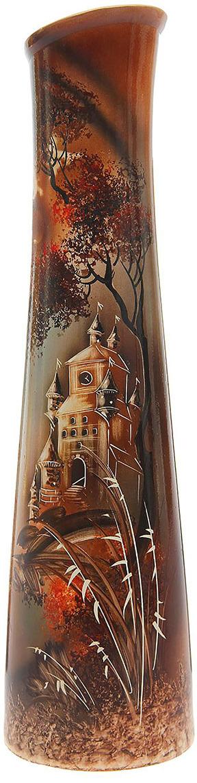 """Ваза Керамика ручной работы """"Стелла Природа"""", 1164840, коричневый, 17 х 17 х 67 см"""