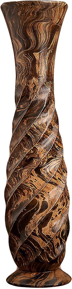 """Ваза """"Вихрь"""", 1487865, коричневый, 12 х 12 х 50 см"""