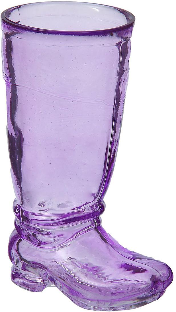 """Ваза Evis """"Ботфорт"""", 759937, фиолетовый, 8,5 х 10,8 х 18,2 см"""