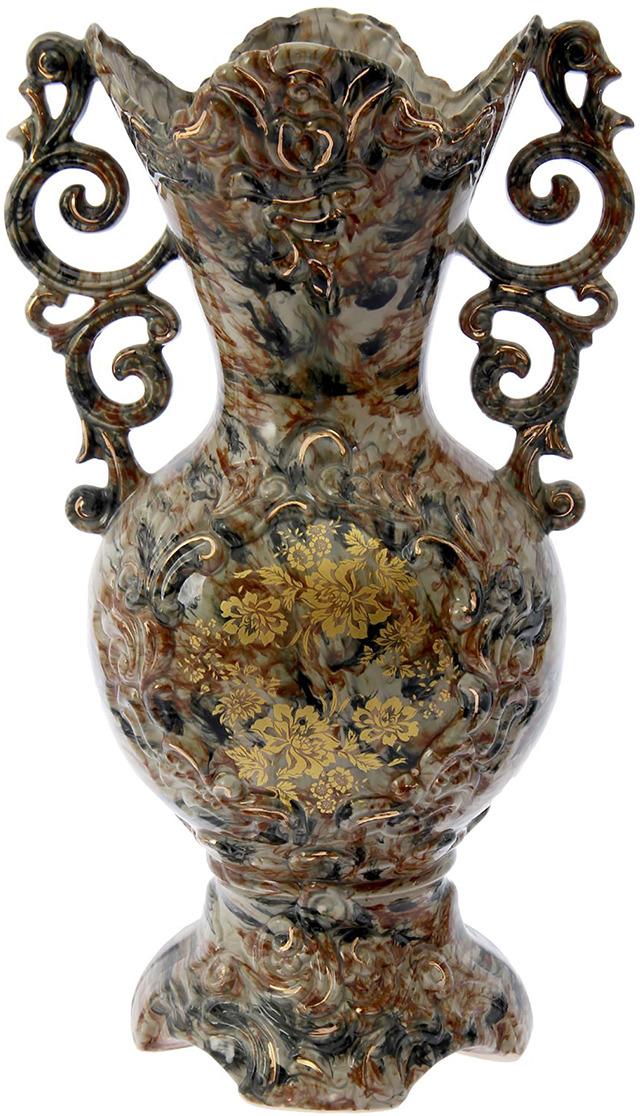 Ваза Керамика ручной работы Виола, 2623968, коричневый ваза керамика ручной работы лиана цвет светло коричневый средняя 1130557