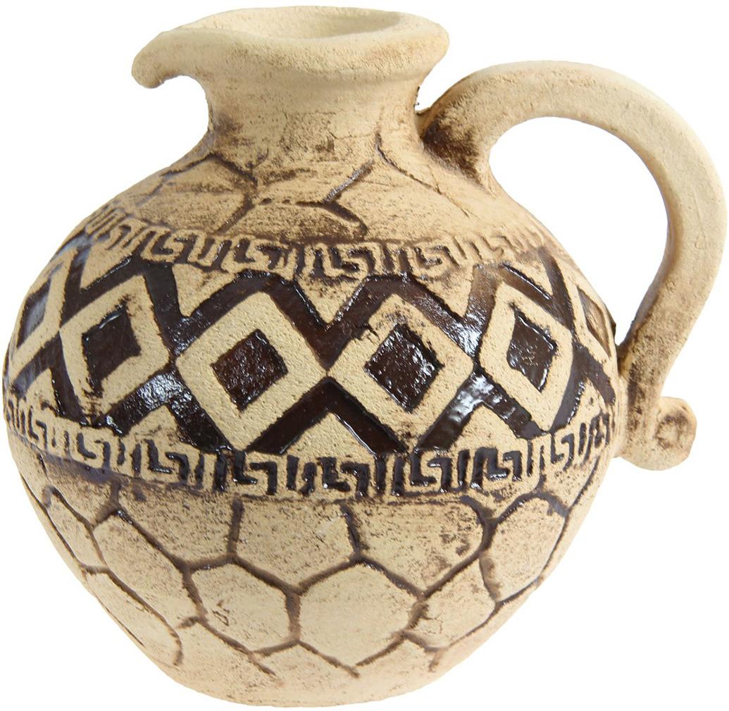 Ваза Керамика ручной работы Перс, 1144877, бежевый, 20 х 20 х 24 см ваза керамика ручной работы натали 2 776273 бежевый 13 х 13 х 26 см