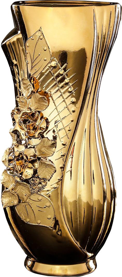 Ваза Керамика ручной работы Лиана, 196354, золотой, 7 х 14 х 30 см набор винный керамика ручной работы ружье 7 предметов