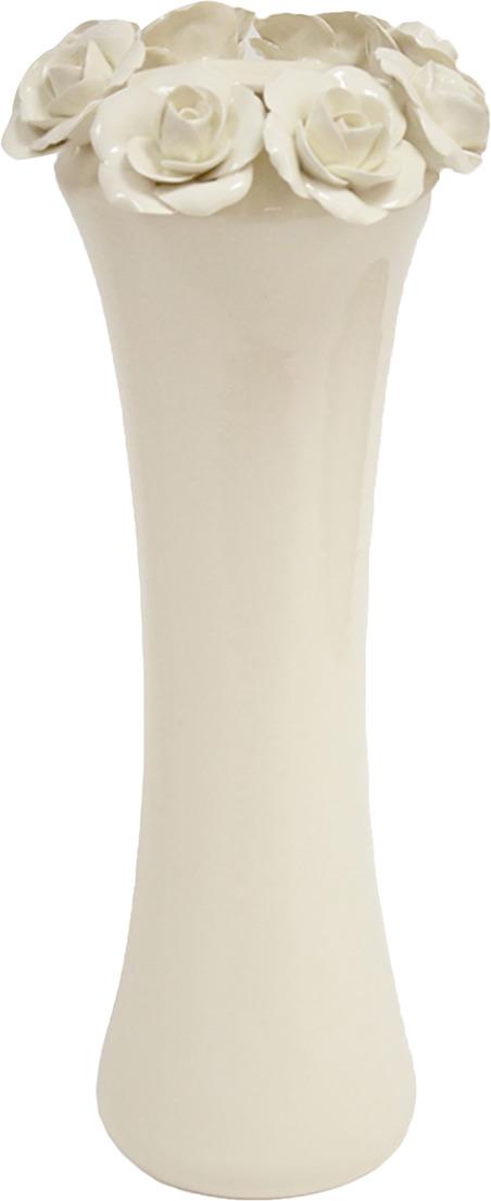 Ваза Grand Kerama Розали, 2953364, белый, высота 38 см
