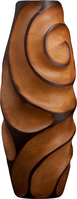 "Ваза ""Эльза"", 3257003, коричневый, бежевый, 15 х 15 х 38 см"