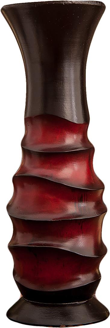 """Ваза """"Темный мир"""", 3256981, коричневый, красный, 12,5 х 12,5 х 30 см"""