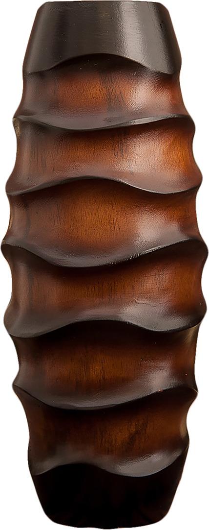 "Ваза ""Овал"", 3257002, коричневый, бежевый, 15 х 15 х 38 см"