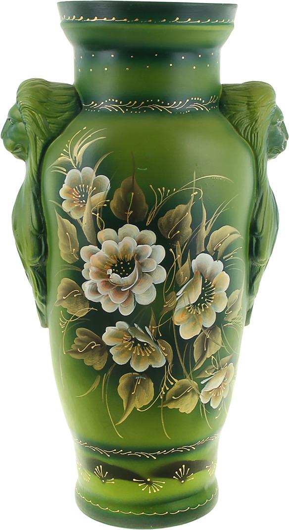 Ваза Керамика ручной работы Дора, 320415, зеленый, белый, 20 х 22 64 см