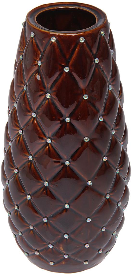 """Ваза Керамика ручной работы """"Ананас"""", 1473329, коричневый, 16 х 16 х 31 см"""