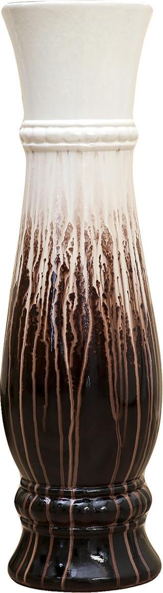 """Ваза """"Всплеск"""", 1873551, белый, коричневый, 16 х 16 х 60 см"""