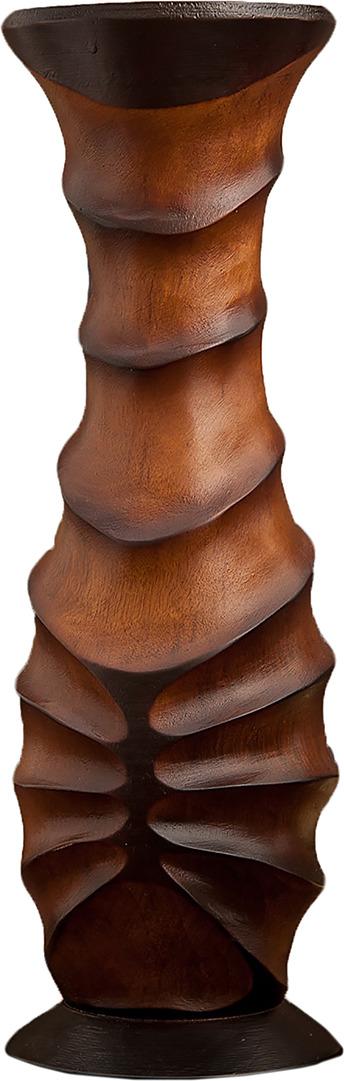 "Ваза ""Клен"", 3256996, коричневый, 12,5 х 12,5 х 40 см"